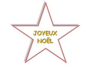 motif joyeux noël avec étoile