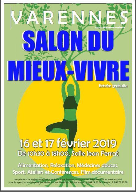 affiche du salon du Mieux-Vivre Varennes sur seine février 2019
