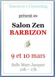 affiche du salon zen à barbizon les 9 et 10 mars 2019