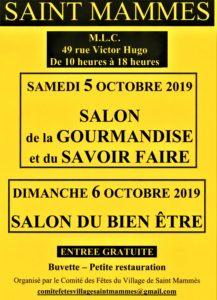 affiche du salon du Bine-être de Saint-Mammes dimanche 6 octobre 2019