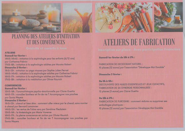 programme du salon du Bien-être Ury 01 et 02 février 2020